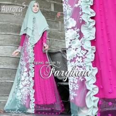 baju gamis terbaru Aurora syar'i 5 by farghani F