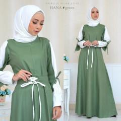 baju gamis terbaru Hana By Oribelle Hijab green