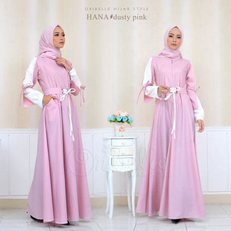 baju gamis terbaru Hana By Oribelle Hijab pink