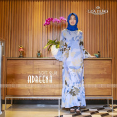 baju gamis terbaru adreena drees by GDA soft blue