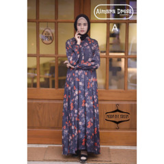 baju gamis terbaru aimara dress moda by erista