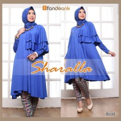 baju gamis terbaru sharalla by efandoank blue
