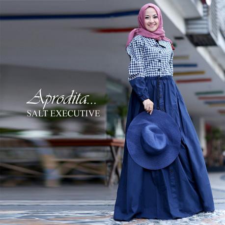 busana muslim aprodita by salt executive navy