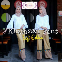 celana khatassel pants by khazana btari soft golden