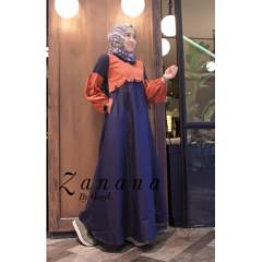gamis anak muda zanana dress by gagil navy
