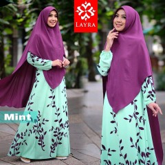 gamis model terbaru Zizah syari by layra collection mint