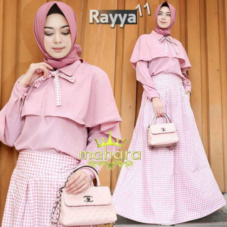 gamis model terbaru rayya set vol 11 by mahara Pink
