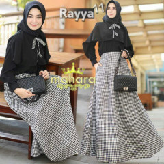 gamis modern rayya set vol 11 by mahara Black