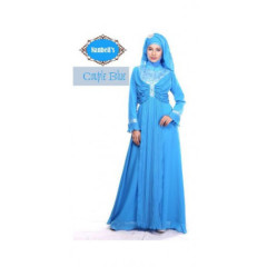 gamis modern syura dress by nanbels blue
