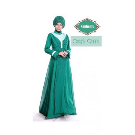 gamis modern syura dress by nanbels green