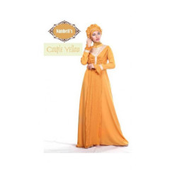 gamis modern syura dress by nanbels yellow