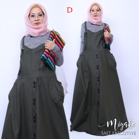 gamis muslim anak muda miyake dress D