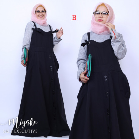 gamis muslim modern miyake dress B