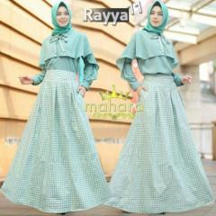 gamis muslim rayya set vol 11 by mahara Green
