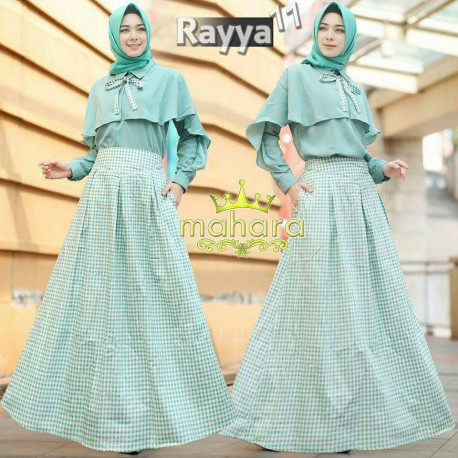gamis muslim rayya set vol 11 by mahara Green