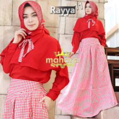 gamis muslim rayya set vol 11 by mahara Red