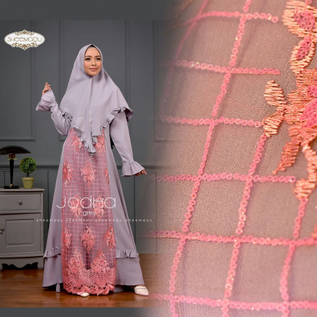 gamis syar'i Jodha by sheemaqu grey