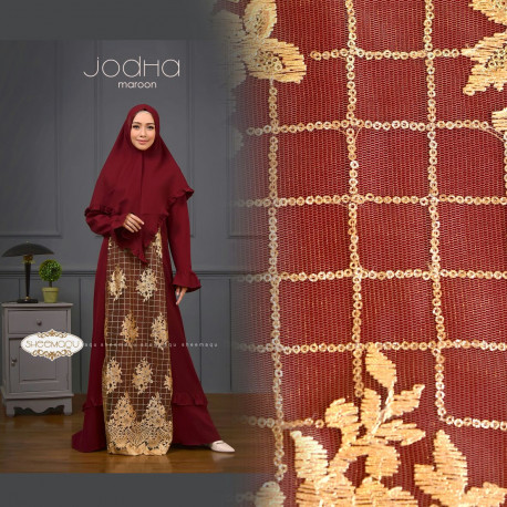 gamis syar'i anak muda Jodha by sheemaqu maroon