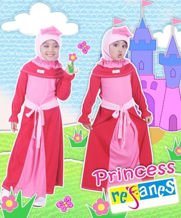 gaun pesta Princess & Alya by Refanes pink