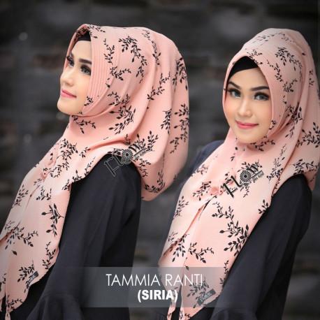 hijab terbaru jilbab tammia ranti by flow peach
