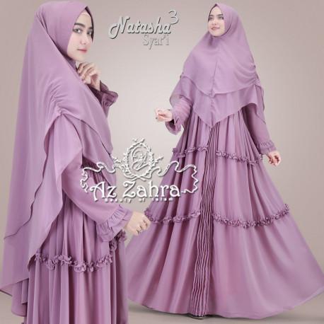 jual gamis natasha syari vol 3 by az zahra purple