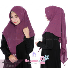 koleksi hijab khimar mini sahina D