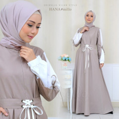 model baju gamis terbaru Hana By Oribelle Milo