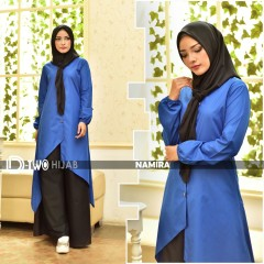 model baju muslim namira by hijab d-two blue