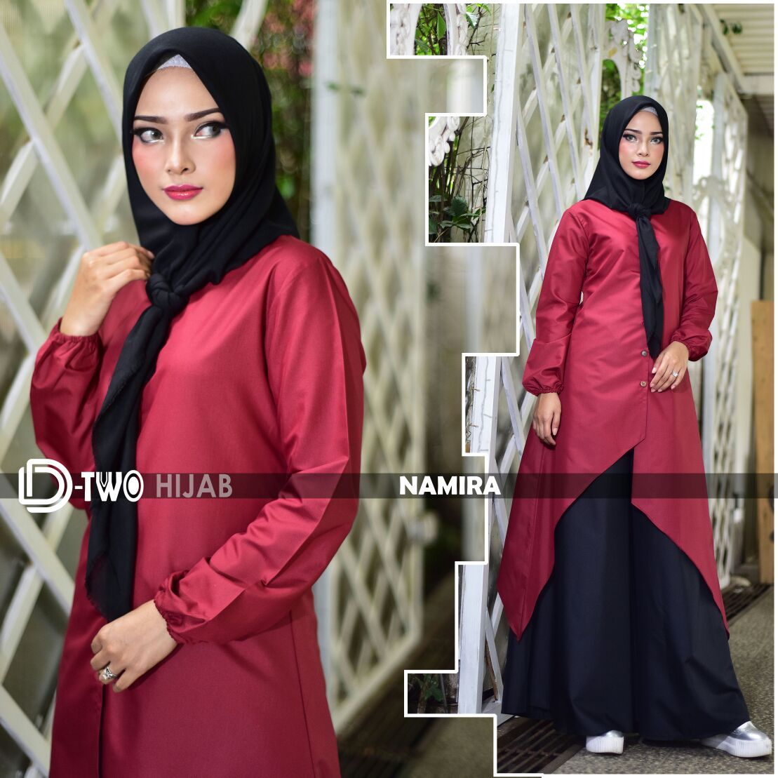 model busana muslim namira by namira red