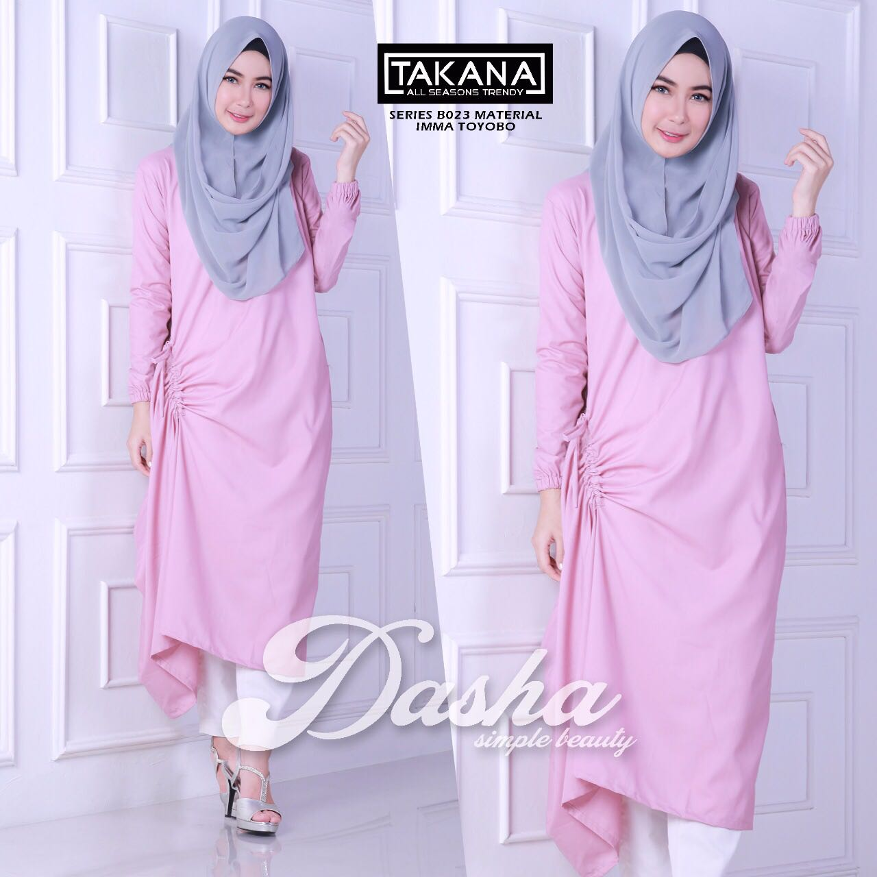 model gamis by balimo pink