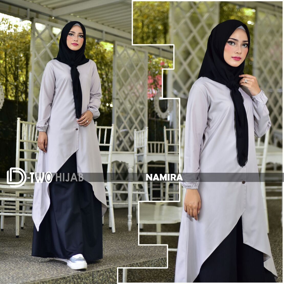 model gamis namira by hijab d-two grey