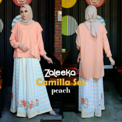model gamis terbaru camilla set by zaleeka peach