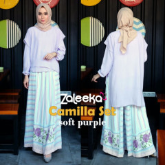 model gamis terbaru camilla set by zaleeka soft purple