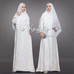 model gamis vienna syari by koys white