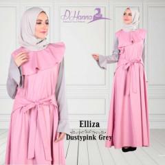 Elliza tanpa pashmina dusty pink