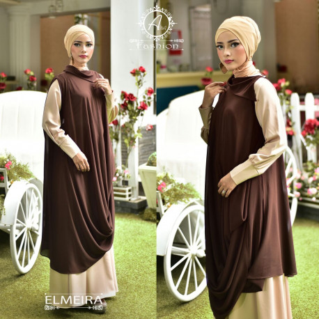 Elmeira Cream Dark Brown
