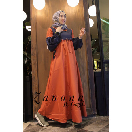 Restok Zanana Dress by Gagil Terracota