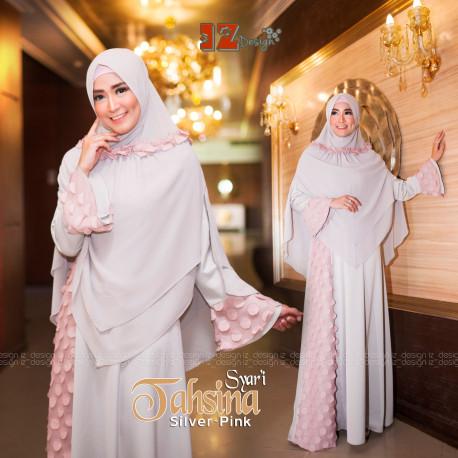Tahsina Syari Silver Pink