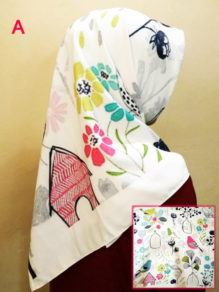 koleksi jilbab printing