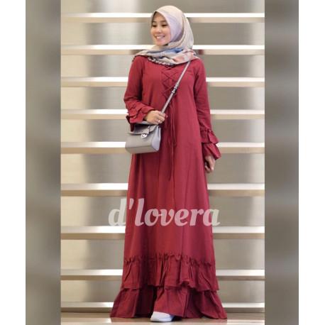 gamis modern zivana dress maroon