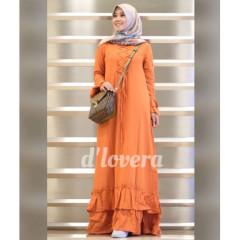 gamis modern zivana dress orange