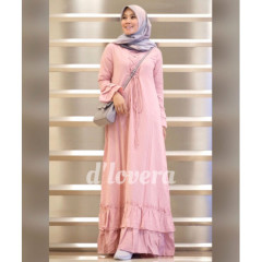 gamis modern zivana dress pink