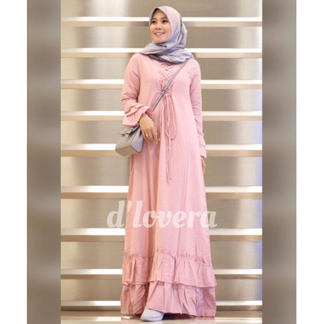 gamis modern zivana dress pink