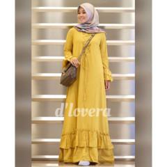 gamis modern zivana dress yellow