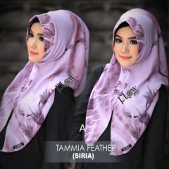 jilbab tammia motif feather A