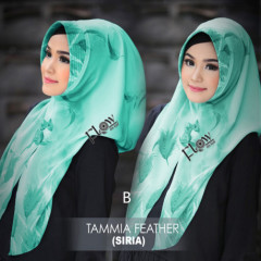 jilbab tammia motif feather B
