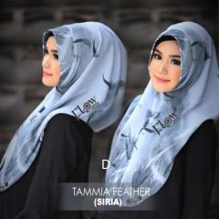 jilbab tammia motif feather D