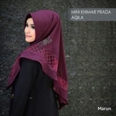 mini-khimar-prada-aqila maroon