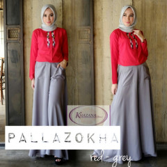 pallazokha by khazana btari Red Grey