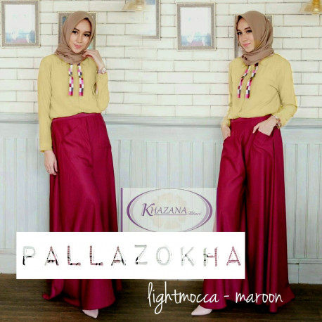 pallazokha by khazana btari light mocca maroon